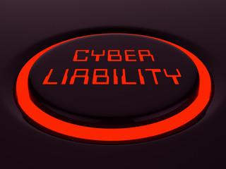 Cyber Liability Insurance Data Cover 3d Illustration