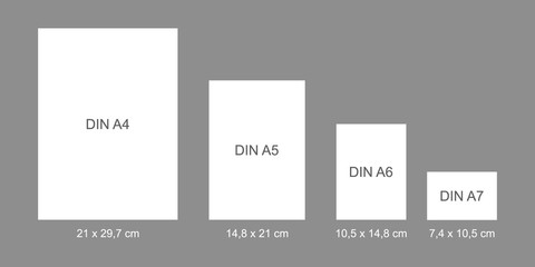 DIN papers - flat vector graphic with transparent background