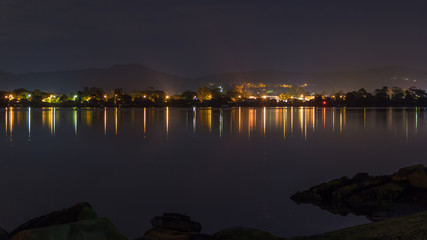 Reflections of Night on the Bay