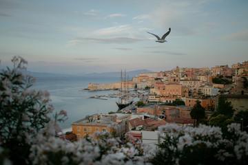 Overlooking an old Italian town