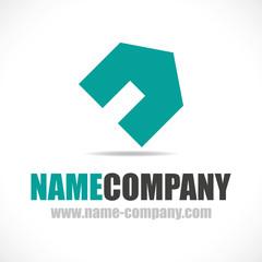 logo promoteur immobilier maison constructeur