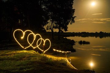 light heart drawing landscape