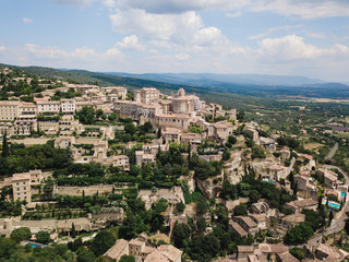 Aerial view to Ancient village of Gordes in Provence, France