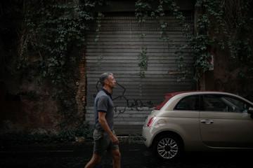 Man walking in the street