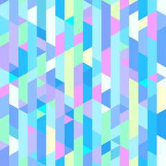 Multicolored pattern with planes and triangles. Seamless mosaic texture. Geometric wallpaper of the surface. Bright colors. Print for polygraphy, posters, t-shirts and textiles