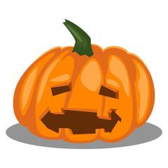 Halloween pumpkin vector cartoon icon isolated on white background.