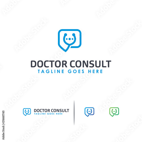 doctor consult logo template designs simple doctor app logo stock