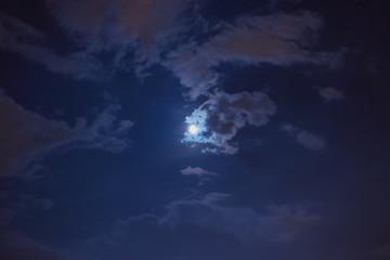 Bright light in the night