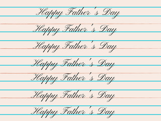 FATHER'S DAY CARD WITH CALLIGRAPHY AND COLORS. HAPPY FATHERS DAY.