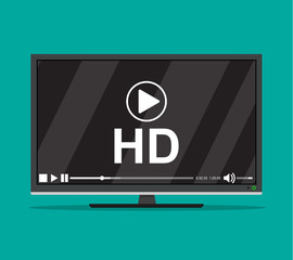 Modern flat screen tv
