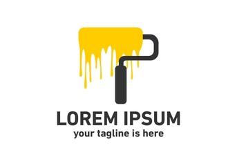Paint brush icon, logo