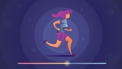 Runner in motion.Templates, concept vector illustration flat design.