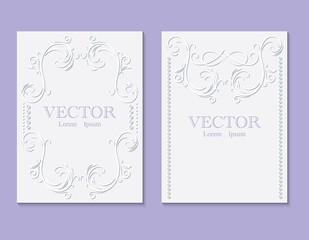 Invitation card for your holiday. You can use it to decorate books, notebooks, paper.