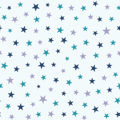 Seamless pattern with stars. Childish vector background