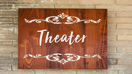 Schild 344 - Theater