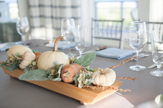 Autumnal Beach Tablescape