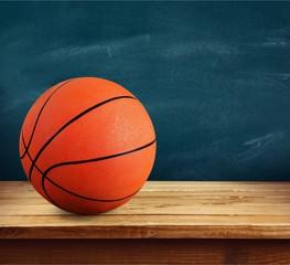 Orange Basketball ball on desk