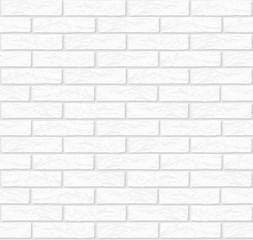 Vector white brick wall texture seamless - stock vector.