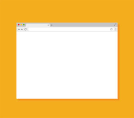 Browser window. Flat style - stock vector.