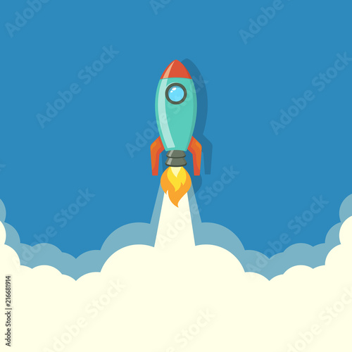 Rocket launch Rocket ship rocket vector, illustration