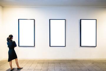 beautiful woman in gallery