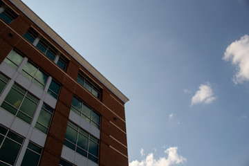 Brick building and sky