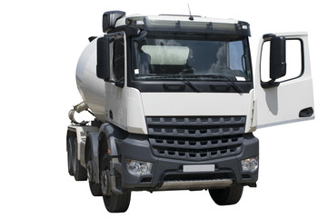 Concrete Mixer Truck on a white background