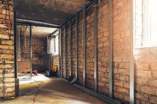 Old Basement Renovation In Process Stockfotos Und Lizenzfreie Best Old Basement Remodel