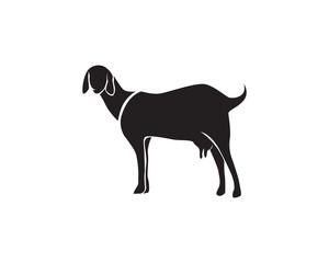 Goat black animals vector logo and symbol