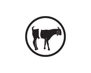 Goat black animals vector logo and symbols template