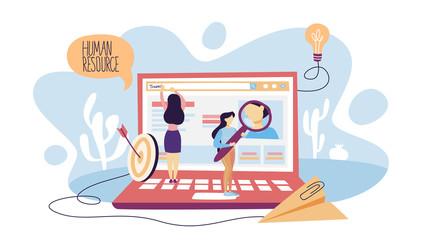 Human resources concept illustration