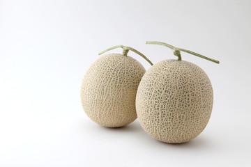 アールス メロン 白背景 フルーツ 果物