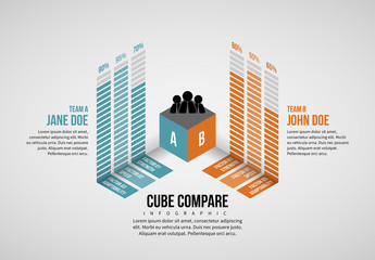 Cube Infographic Layout