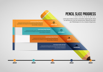 Pencil Infographic Layout