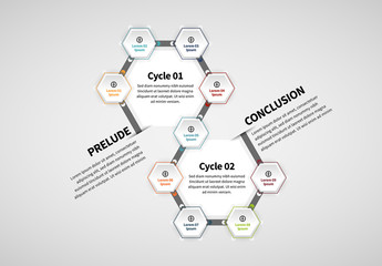 Hexagonal Infographic Layout