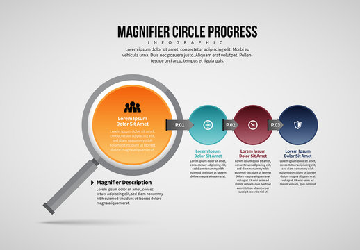 Magnifying Glass Infographic Layout