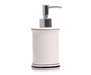 Dispenser for liquid soap on white background isolation