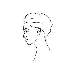 silhouette beautiful female