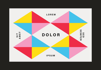 Colorful and Geometric Business Card Layouts