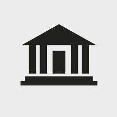 Bank icon. Court building vector icon. Glyph icon solid style.