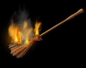 Witch Broom Burning Object