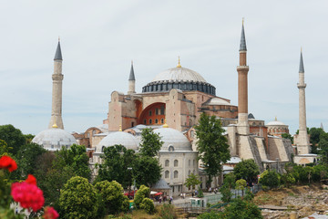 Mosque, Cathedral and Museum Hagia Sophia in the historical center of Istanbul.