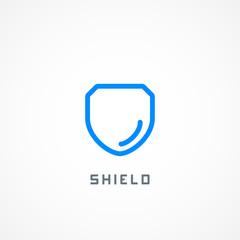 Security company logo ready to use. Abstract symbol of security. Shield logo. Shield icon. Security logo