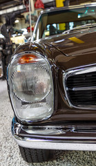 Vintage car Front Grill and Headlight