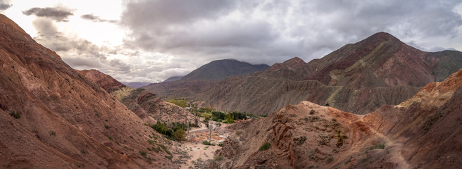 Panoramic view Mountains and landscape of Purmamarca - Purmamarca, Jujuy, Argentina