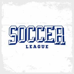 Modern professional vector emblem soccer for football league