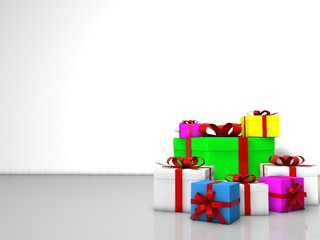 Gift boxes for birthday and holiday celebration