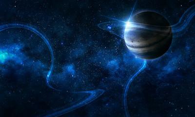 космос абстрактные линии