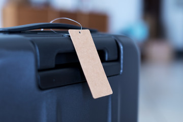 luggage with blank tag