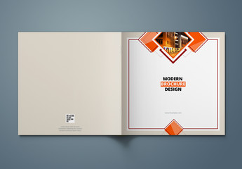 Orange Square Brochure Cover Layout